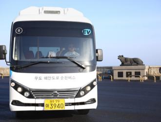 比亚迪20辆eBus-7电动巴士在济州交付