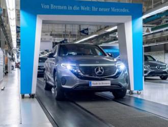 奔驰首款EQC电动车在德国投入生产