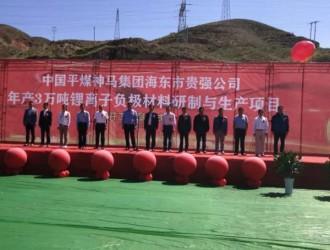 贵强新材料年产3万吨锂离子电池负极材料研制与生产线项目开工