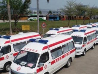福建省委省政府捐助100台金龙救护车发往湖北宜昌