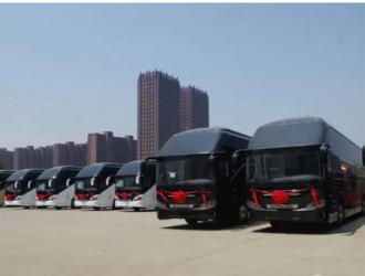 中国客车英文网100辆!第四批百路佳朝觐客车发往沙特