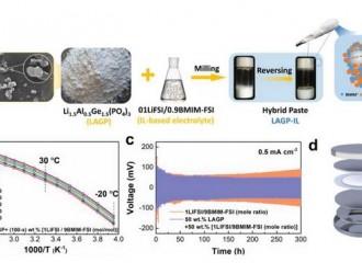 固态电池研究新成果:准固态浆料可使电流密度提高10倍