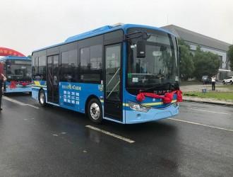 助力文明城市建设,30辆安凯G9纯电动客车驶入滁州