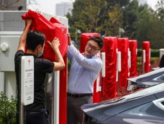 北京第一座V3超级充电站落成并投入使用