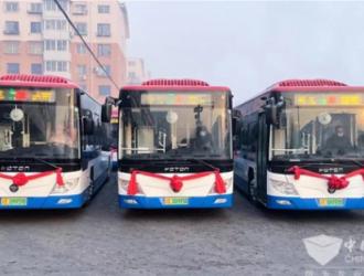 """福田欧辉60台纯电动客车进驻""""中国药都"""" 助力城市公交"""