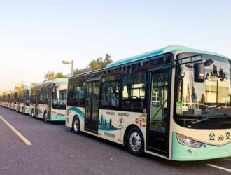 绿色、环保、高颜值!批量安凯客车投运金华公交